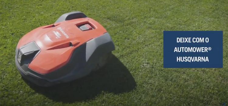 Para manutenção profissional de áreas verdes, conheça o Automower® Husqvarna